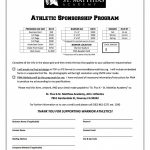 Athletic Sponsorship Program