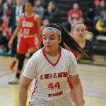 Girls Varsity Basketball beats St. Bernard 36-34