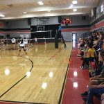Volleyball opens up Home season in tough loss to Mary Star.