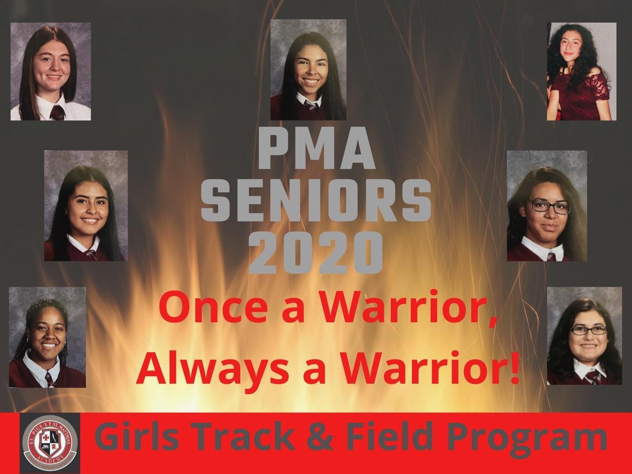 2020 Girls Track & Field Seniors, We will miss you!