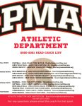 PMA Head Coaches Email Addresses