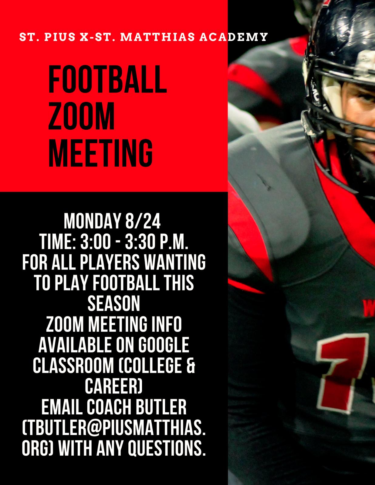 Football Zoom Meeting