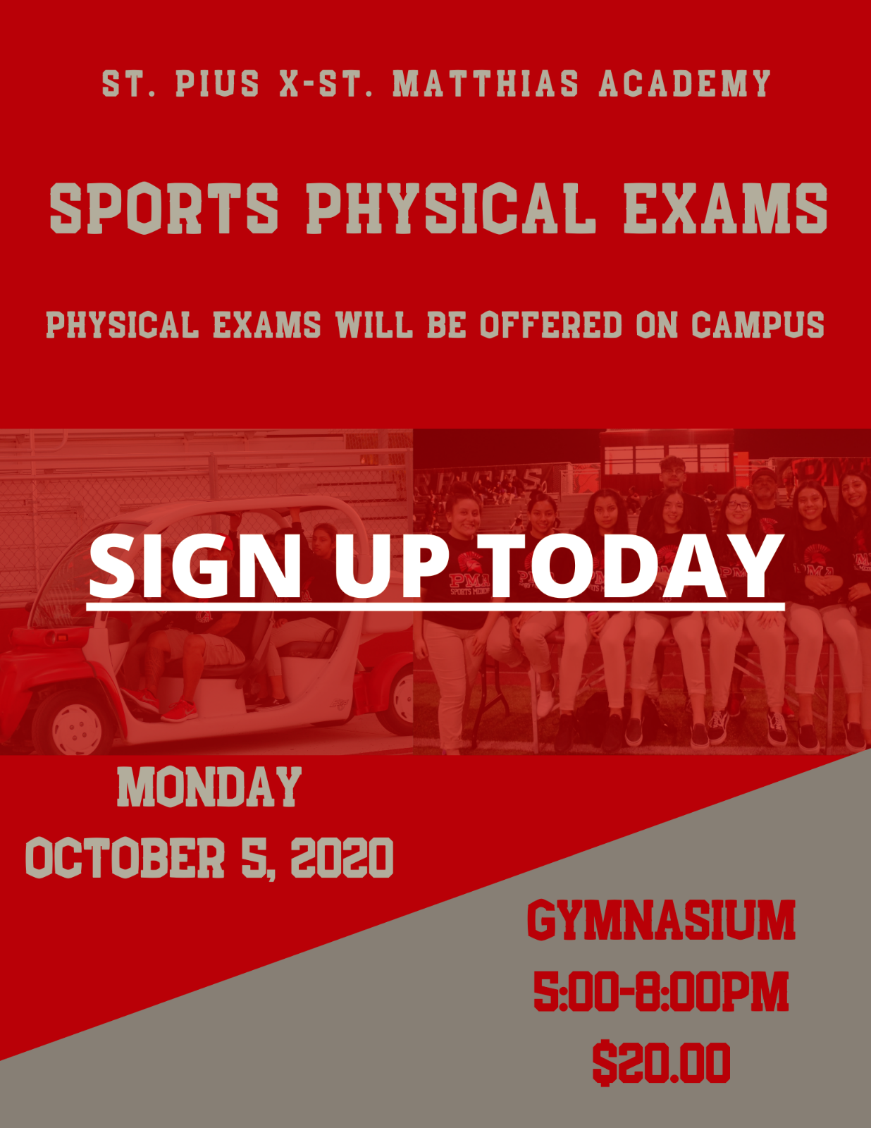 Physical Exams on Campus
