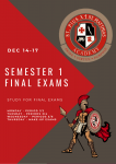 FINAL EXAMS ARE COMING!