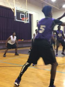 Purple and White Basketball Game