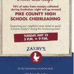 ZAXBY'S FUN(D)RAISER!!!