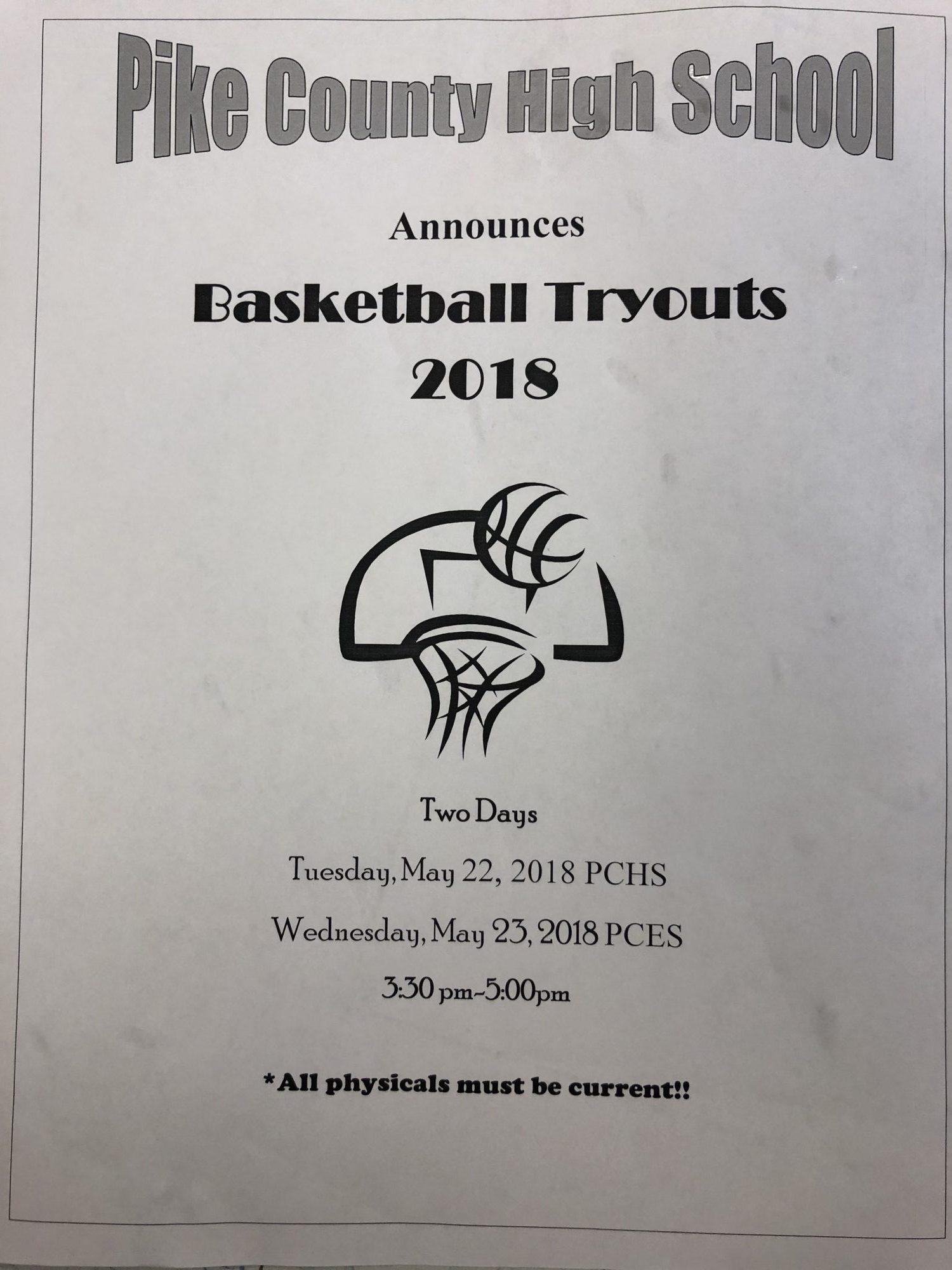2018 Boys Basketball Tryouts