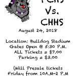 PCHS vs CHHS Game Day Info.