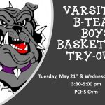 B-Team and Varsity Boys Basketball Tryouts