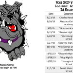 2019 PCHS Varsity Football Schedule
