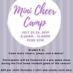 Mini Cheer Camp for grades K-6