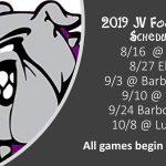 2019 JV Football Schedule