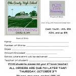 Place Your Order for Homecoming T-shirts