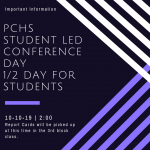 Report Card/Student Led Conference Day