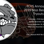 2019 Boys Basketball Tryouts