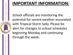 School officials monitoring the weather