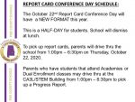 Report Card Conference Day Schedule