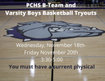 PCHS Basketball Tryouts