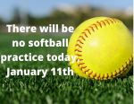 Softball Practice Information