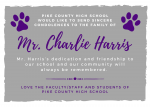 Condolences to the Mr. Charlie Harris Family