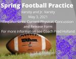 Spring Football Information