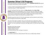 Summer Driver's Ed Program