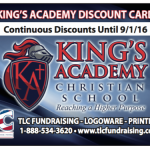 King's Academy Discount Card!