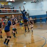 Carman-Ainsworth High School Girls Varsity Volleyball falls to Swartz Creek High School 1-3
