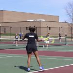 Carman-Ainsworth High School Girls Varsity Tennis ties Davison High School 4-4