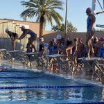 Girls Varsity Swimming beats Dobson 104 – 68