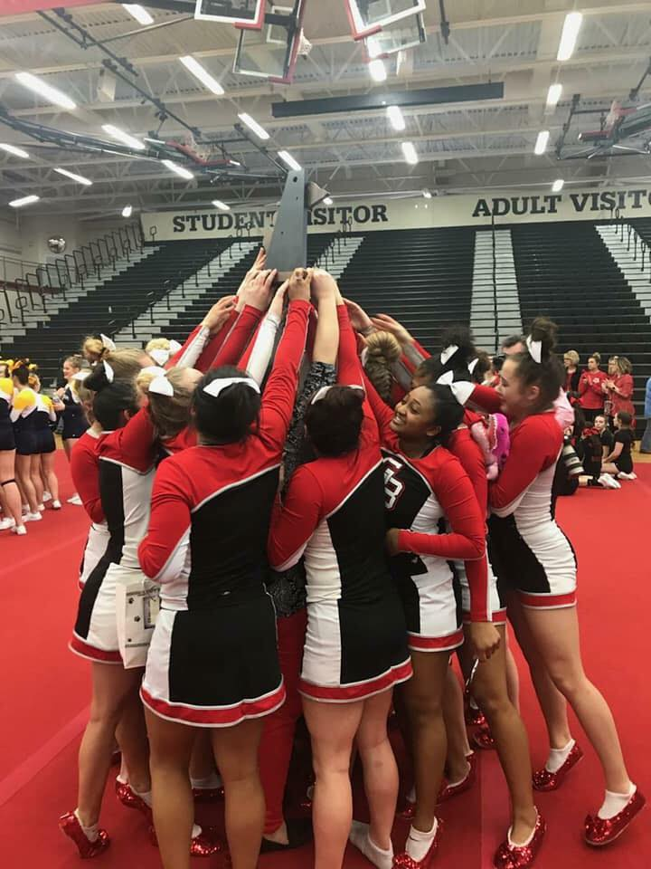 Varsity Cheer – District Champs!!