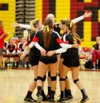 Chaparral High School Girls Varsity Volleyball falls to Liberty High School 1-3