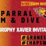 Chap Girl's Swim Win Brophy/Xavier Invite, Boy's Second