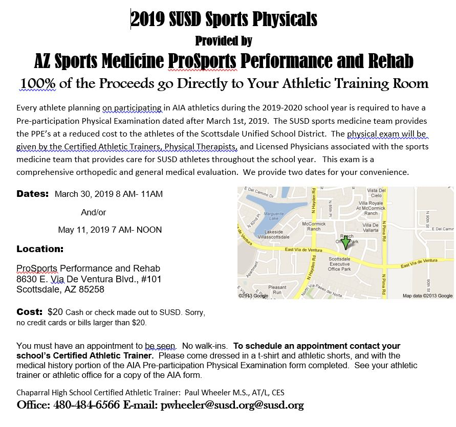 2019-2020 Athletic Physicals and Paperwork