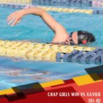 Girl's Swim take down Xavier; Boy's Fall Short vs. Brophy