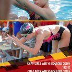 Girls Varsity Swimming & Dive beats Boulder Creek 129 – 57