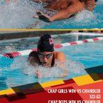 Girls Varsity Swimming & Dive beats Chandler 122 – 63