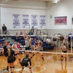 Houston Academy Varsity Volleyball beat New Brockton High School 2-1