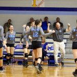 Houston Academy Girls Varsity Volleyball beat Rehobeth High School 3-2