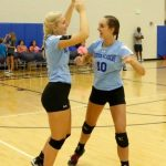 Houston Academy Girls Varsity Volleyball beat Dothan High School 2-0
