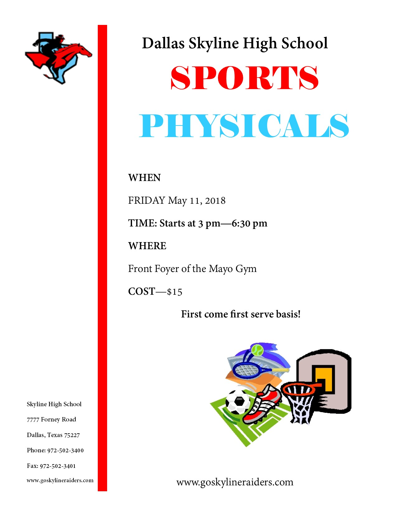 Student Athlete Physicals 2018-2019