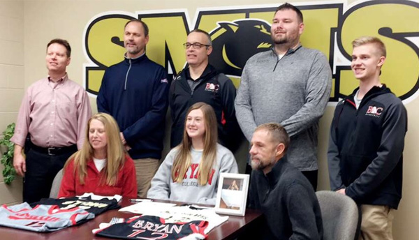 Tessa Johnson signs with Bryan College