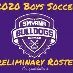 2020 Boys Soccer Preliminary Roster