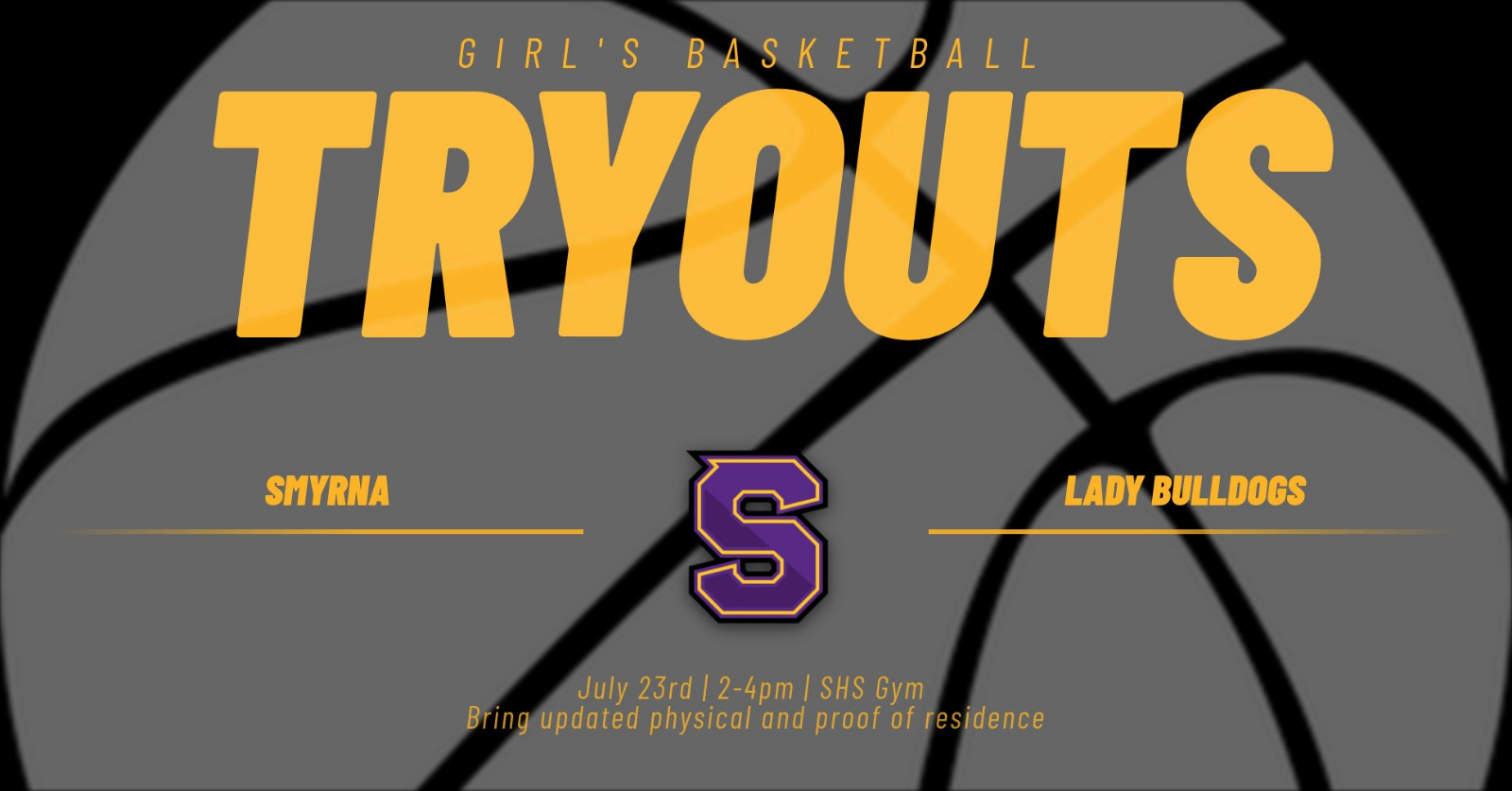 Girl's Basketball Tryout Date Posted