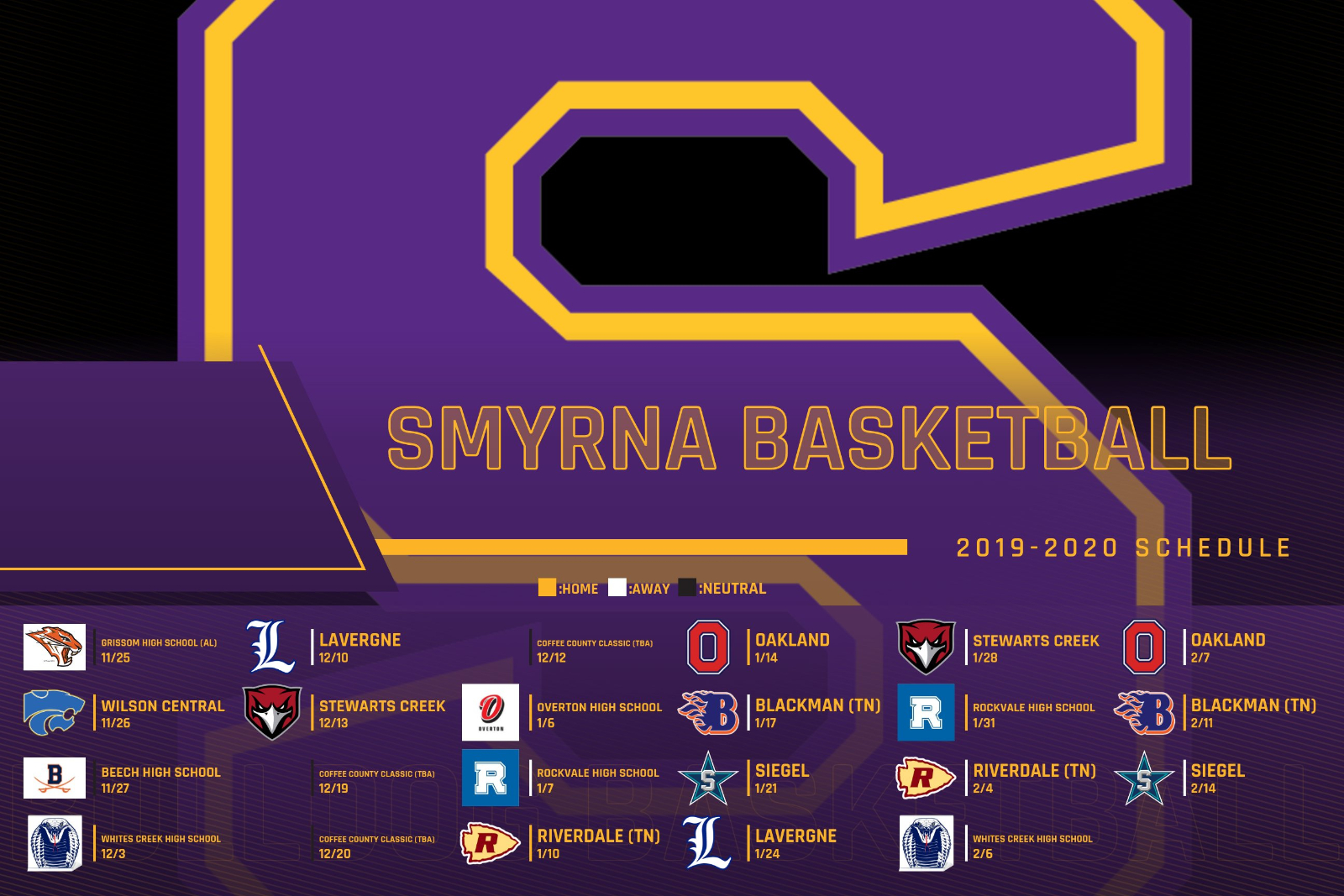 Boys Basketball Schedule Release
