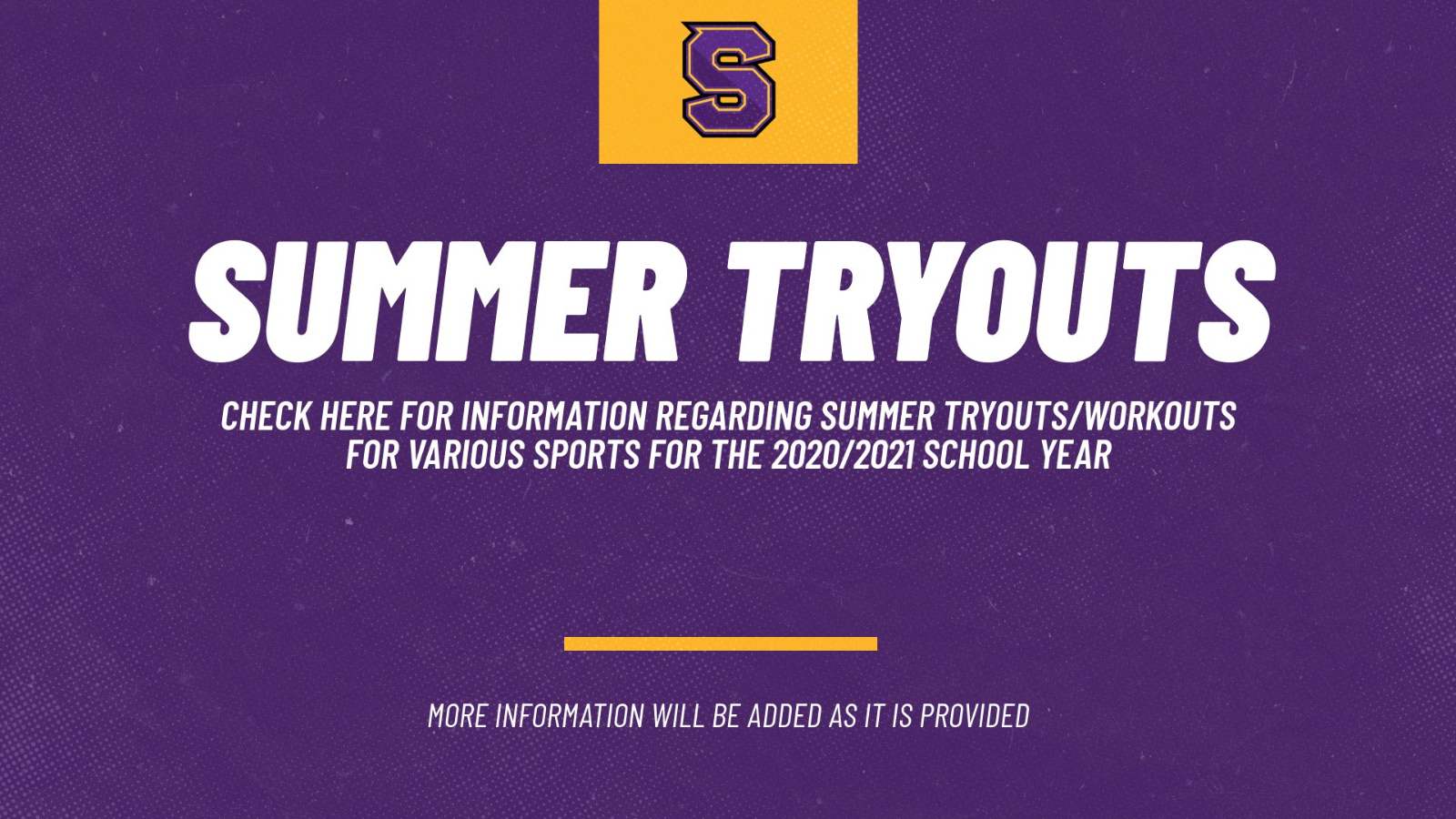2020/2021 Athletic Tryout Information