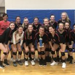 Girls Varsity Volleyball beats South Side 2 – 0
