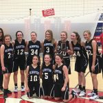 Girls 7th Grade Basketball beats East Jay 28 – 13 to win ACAC Tournament