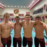 Boys Varsity Swimming beats Adams Central 120 – 57