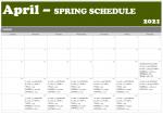 April Spring Calendar